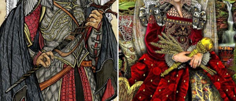Император и Императрица значение Таро