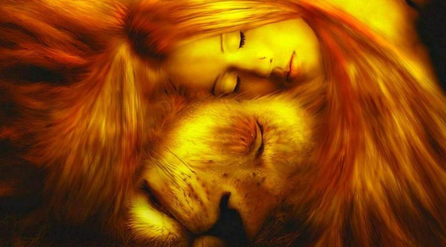если женщине приснился лев
