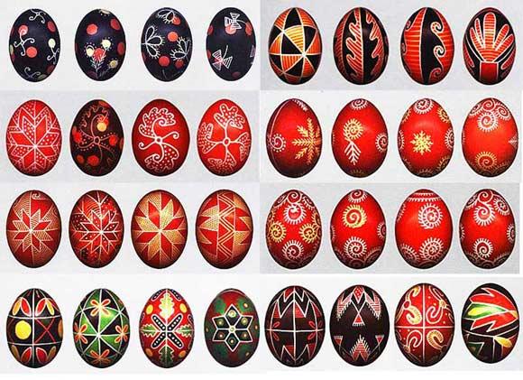 орнамент пасхальных яиц